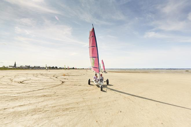 Photos Of Sand Yachting In The Bay Of Mont Saint Michel